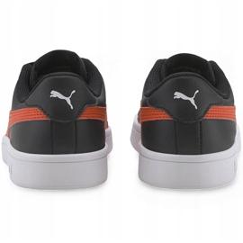 Buty Puma Smash v2 L Jr 365170 22 czarne pomarańczowe 4