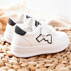 Dziecięce Sportowe Buty Na Rzepy Biało Czarne Santi białe 1