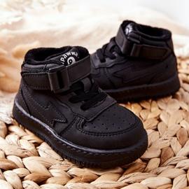 PA1 Dziecięce Wysokie Ocieplane Buty Sportowe Czarne Clafi 5