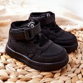 PA1 Dziecięce Wysokie Ocieplane Buty Sportowe Czarne Clafi 6
