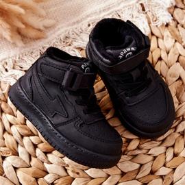 PA1 Dziecięce Wysokie Ocieplane Buty Sportowe Czarne Clafi 1