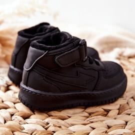 PA1 Dziecięce Wysokie Ocieplane Buty Sportowe Czarne Clafi 2