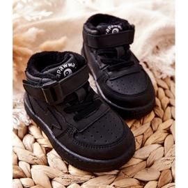 PA1 Dziecięce Wysokie Ocieplane Buty Sportowe Czarne Clafi 3