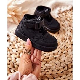 PA1 Dziecięce Wysokie Ocieplane Buty Sportowe Czarne Clafi 4