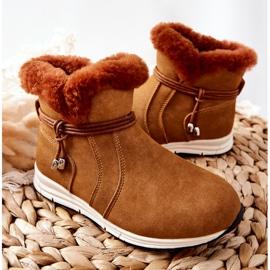 Dziecięce Botki Śniegowce Big Star BB374058BS Camel brązowe 4