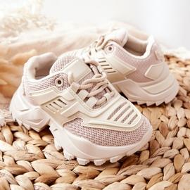 FR1 Dziecięce Sneakersy Jasno Beżowe Freak Out beżowy 6