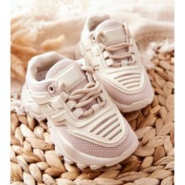 FR1 Dziecięce Sneakersy Jasno Beżowe Freak Out beżowy 4