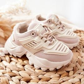 FR1 Dziecięce Sneakersy Jasno Beżowe Freak Out beżowy 7