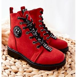 Vinceza Dziecięce Botki Workery Czerwone Mini Aspen 6