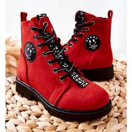Vinceza Dziecięce Botki Workery Czerwone Mini Aspen 5