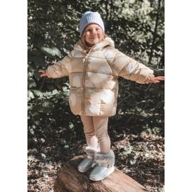 FRROCK Ocieplane Dziecięce Botki Śniegowce Z Futerkiem Srebrne JellyBeans srebrny 6