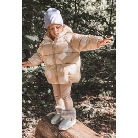 FRROCK Ocieplane Dziecięce Botki Śniegowce Z Futerkiem Srebrne JellyBeans srebrny 9