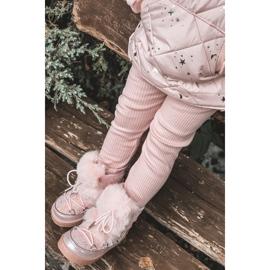 FRROCK Dziecięce Botki Śniegowce Z Futerkiem Pink Minnie Mouse różowe srebrny 7