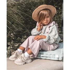FR1 Dziecięce Sneakersy Jasno Beżowe Freak Out beżowy 9