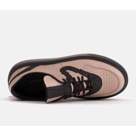 Marco Shoes Lekkie sneakersy z naturalnej skóry beżowy 5