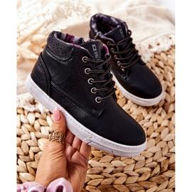 Dziecięce Ocieplane Sportowe Buty Big Star BB374132BS Czarne 4