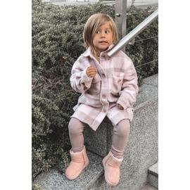 Ocieplane Dziecięce Młodzieżowe Botki Śniegowce Różowe Gooby 3