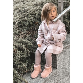 Ocieplane Dziecięce Młodzieżowe Botki Śniegowce Różowe Gooby 9
