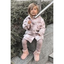 Ocieplane Dziecięce Młodzieżowe Botki Śniegowce Różowe Gooby 8