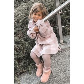 Ocieplane Dziecięce Młodzieżowe Botki Śniegowce Różowe Gooby 1