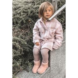 Ocieplane Dziecięce Młodzieżowe Botki Śniegowce Różowe Gooby 2