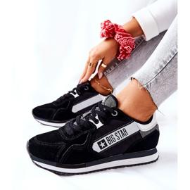 Skórzane Sportowe Buty Big Star II274271 Czarne białe 2