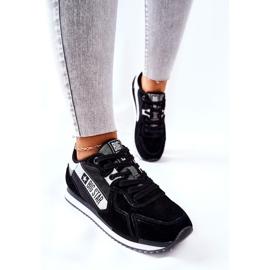Skórzane Sportowe Buty Big Star II274271 Czarne białe 5