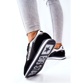 Skórzane Sportowe Buty Big Star II274271 Czarne białe 1