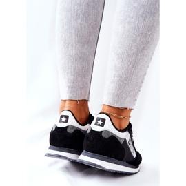 Skórzane Sportowe Buty Big Star II274271 Czarne białe 3