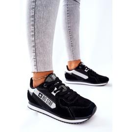 Skórzane Sportowe Buty Big Star II274271 Czarne białe 4