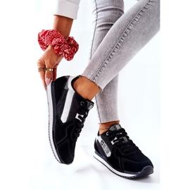 Skórzane Sportowe Buty Big Star II274271 Czarne białe 6