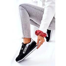 Skórzane Sportowe Buty Big Star II274271 Czarne białe 8