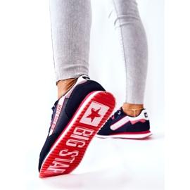 Skórzane Sportowe Buty Big Star II274270 Granatowe białe czerwone 4