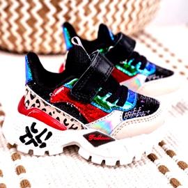 FRROCK Sportowe Buty Dziecięce Na Rzepy Czarne Be Happy beżowy czerwone niebieskie 1