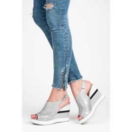 Vices Wygodne buty na koturnie szare 2