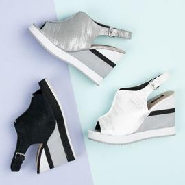 Vices Wygodne buty na koturnie szare 6