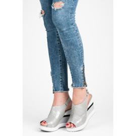 Vices Wygodne buty na koturnie szare 1
