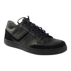Riko buty męskie półbuty casual 828 czarne 1