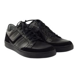 Riko buty męskie półbuty casual 828 czarne 4